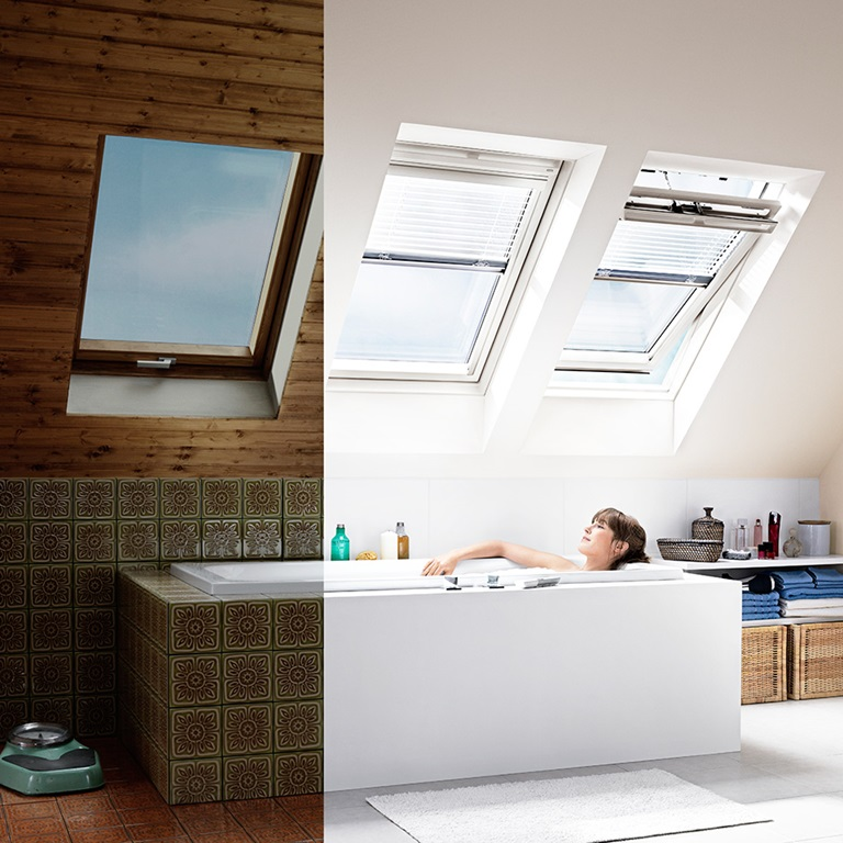 Velux roof windows flat roof windows sun tunnels and for Velux glass