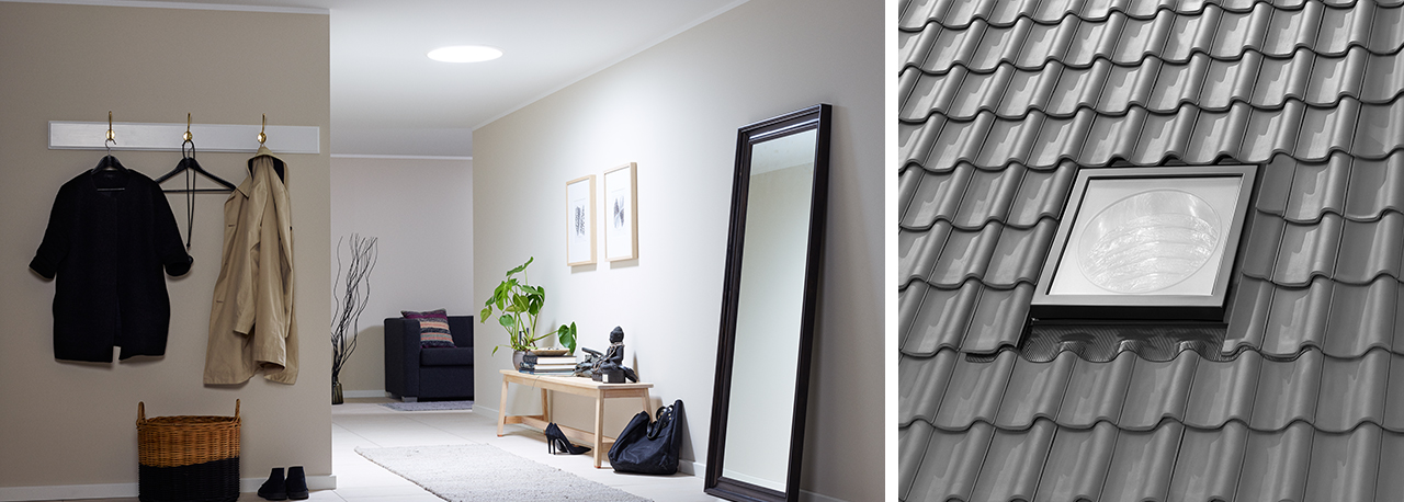 velux sun tunnels solutions for flat and pitched roofs. Black Bedroom Furniture Sets. Home Design Ideas