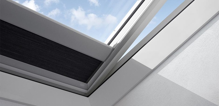 Pleated blinds for flat roof windows for Velux skylight remote control manual