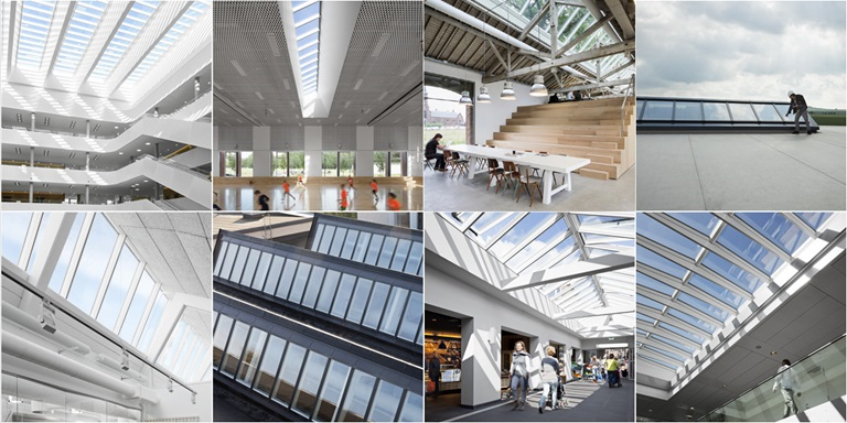 Rooflights and roof glazing building solution gallery