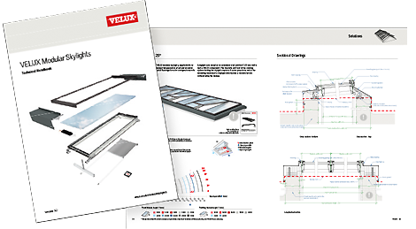 Velux modular skylights system rooflights and roof glazing for Roof drawing app